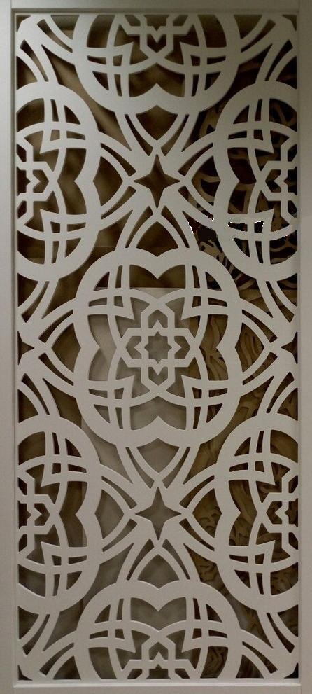 Floral Pattern Laser Cut CNC Router Template SVG File