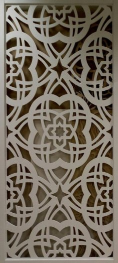 Floral Pattern Laser Cut CNC Router Template SVG File