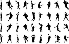 Basketball Silhouettes EPS File