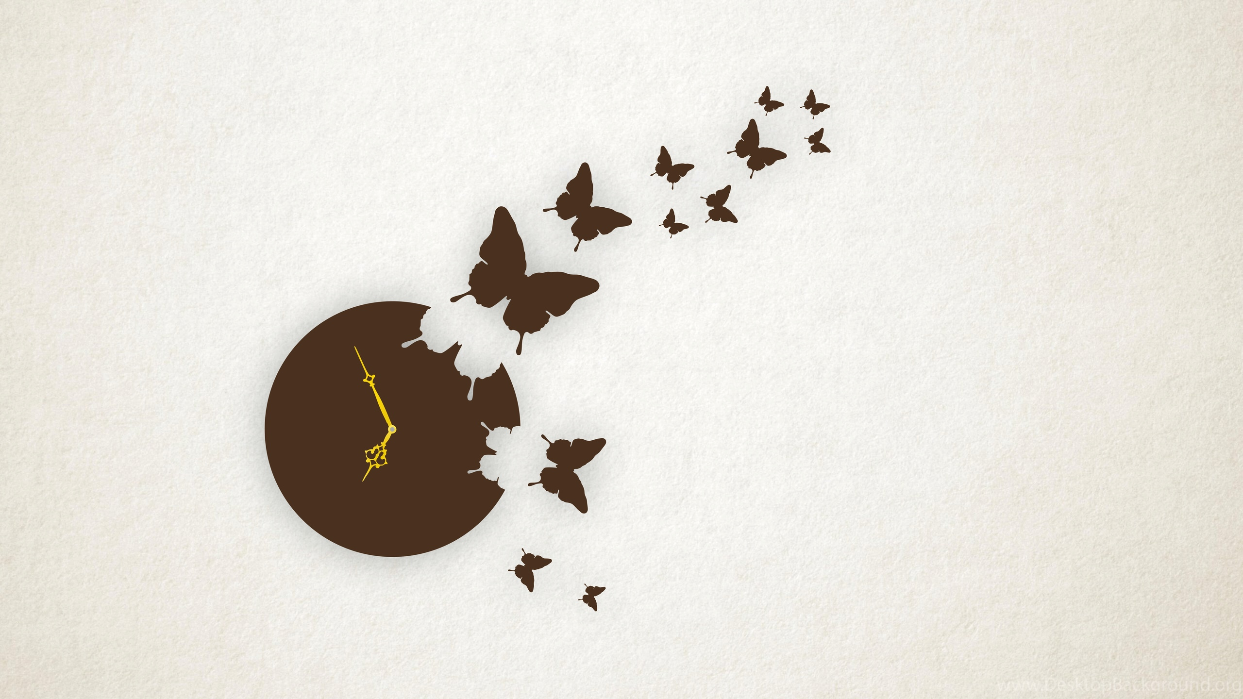 Laser Cut Butterfly Wall Clock Free Vector