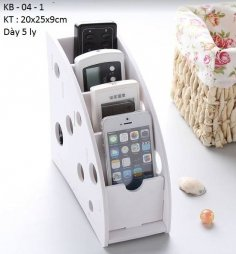 Phone Remote Control Organizer Holder DXF File