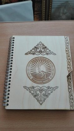 Laser Cut Notebook Cover Free Vector