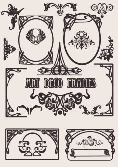 Art Deco Frames Vector Set Free Vector
