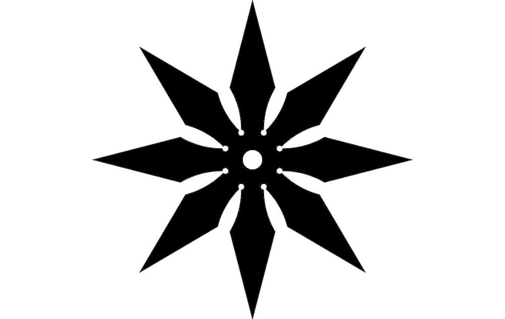 Throwingstar dxf File