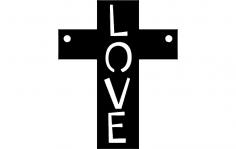 Love cross dxf File