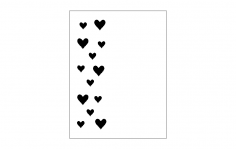 Heart Card Front dxf File