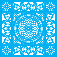 Seamless blue damask pattern Free Vector