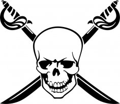 Pirate Skull Free Vector