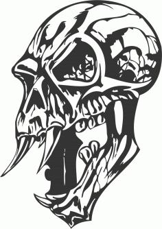 Skulls Cut File DXF File