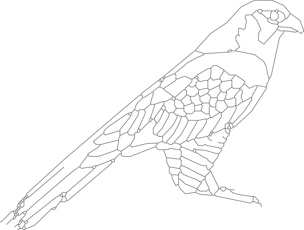Bird Sitting 2 DXF File