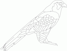 Bird Sitting 2 DXF File