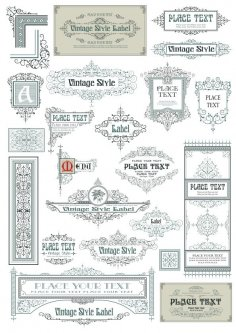 Vintage Decor Frames Free Vector