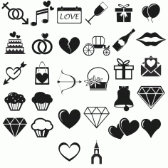 Love Icons vector set