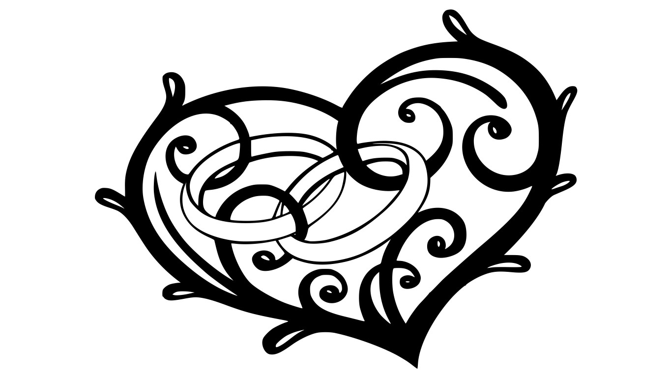 Engagement Ring In Heart Vector Free Vector