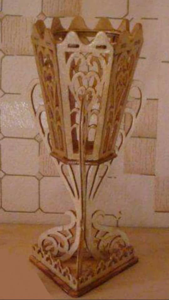 Arab Vase Scroll Saw Pattern PDF File