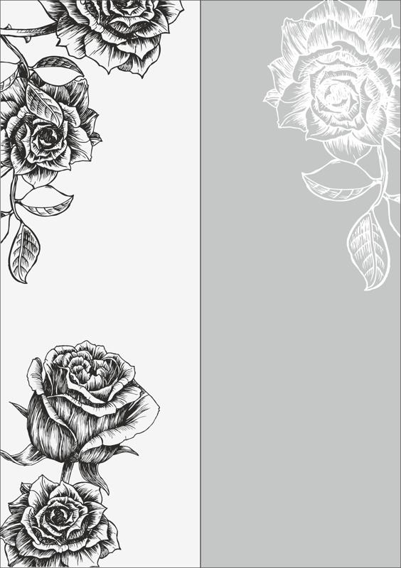 Rose Sandblast Pattern Free Vector