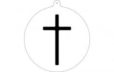 Cross Ornament dxf File