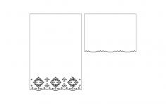 Fancy edge card dxf File