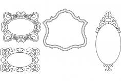 Mirror Frames Simple Designs dxf File