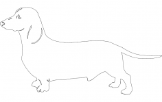 Dog dachound dxf File