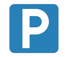 Parking Place Road Sign dxf File