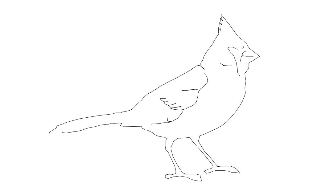 8×10 Cardinal Cut dxf File