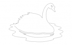 Swan On Water dxf File