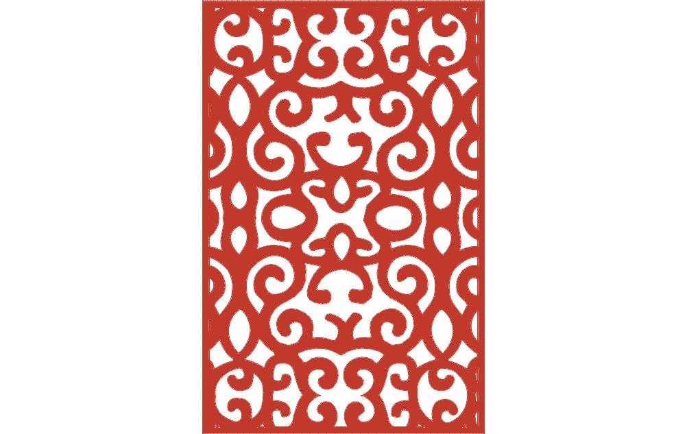 Ornamental Panel 4 dxf File