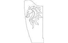 Horse Bracket Flipped Single dxf File