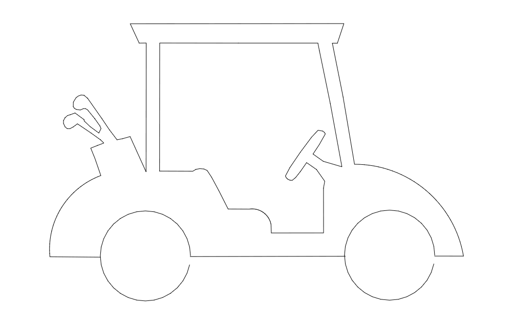Golf-cart dxf File
