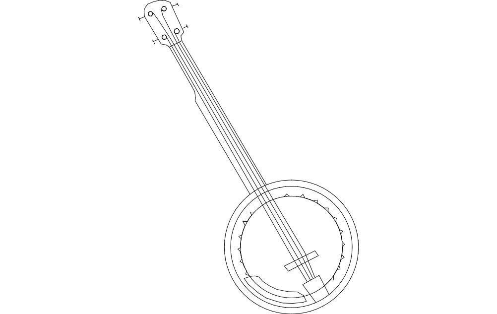 Banjo dxf File