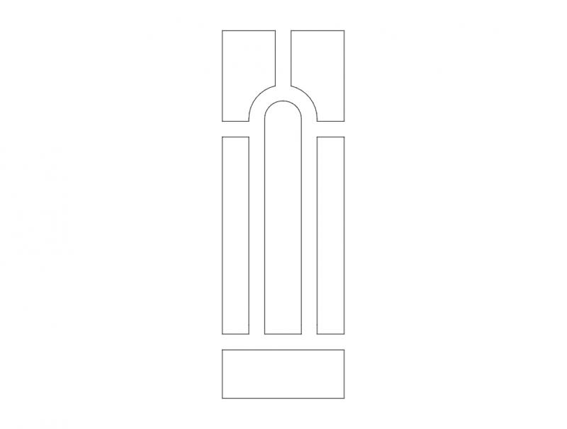 Mdf Door Design 5 dxf File