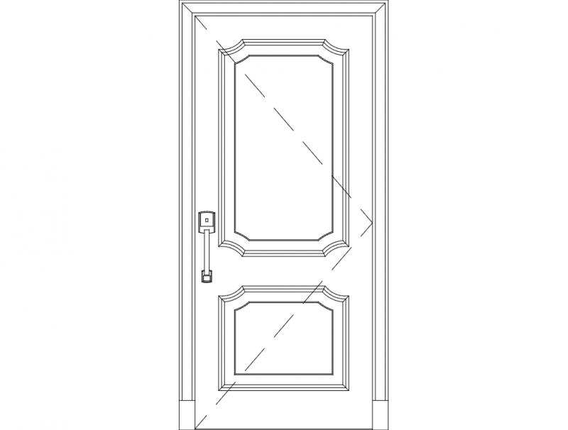 Solid Wood Door dxf File