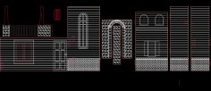 Arches Walls Doors Windows Designs dxf File