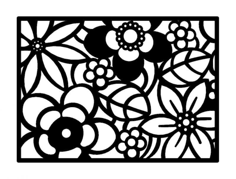 Abstract Flower Art Dxf File Free Download 3axis Co