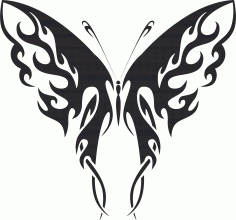 Tribal Butterfly Vector Art 41 DXF File