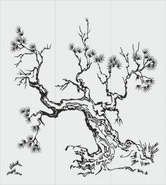 Tree Sandblasting Stencil CDR File