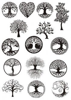 Vector ornament, decorative Celtic tree of life Free Vector