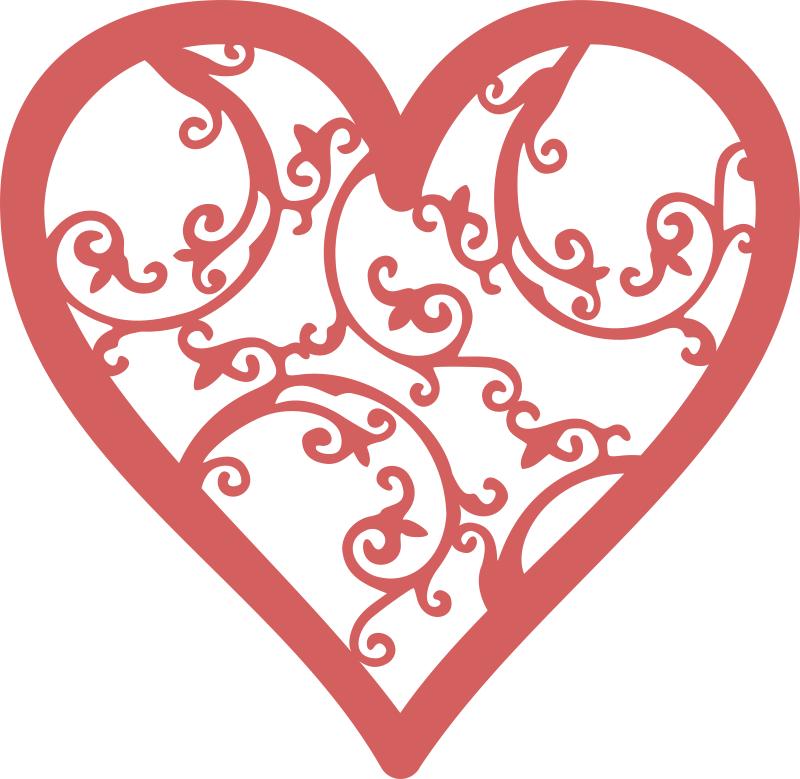 Filigree Heart Free Vector