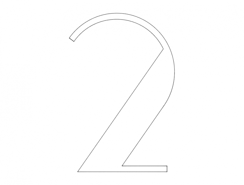 2 Number dxf File