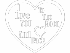 To Moon And Back dxf File