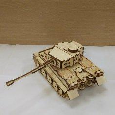 Tank Pz Kpfw Laser Cut PDF File