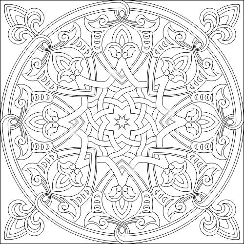 Islamic Decorative Pattern DWG File