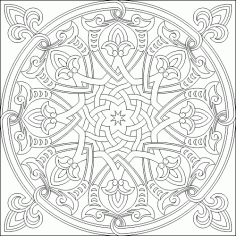 Islamic Decorative Pattern DWG File