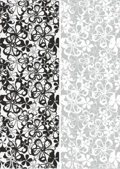 Seamless Flowers Sandblast Pattern Free Vector