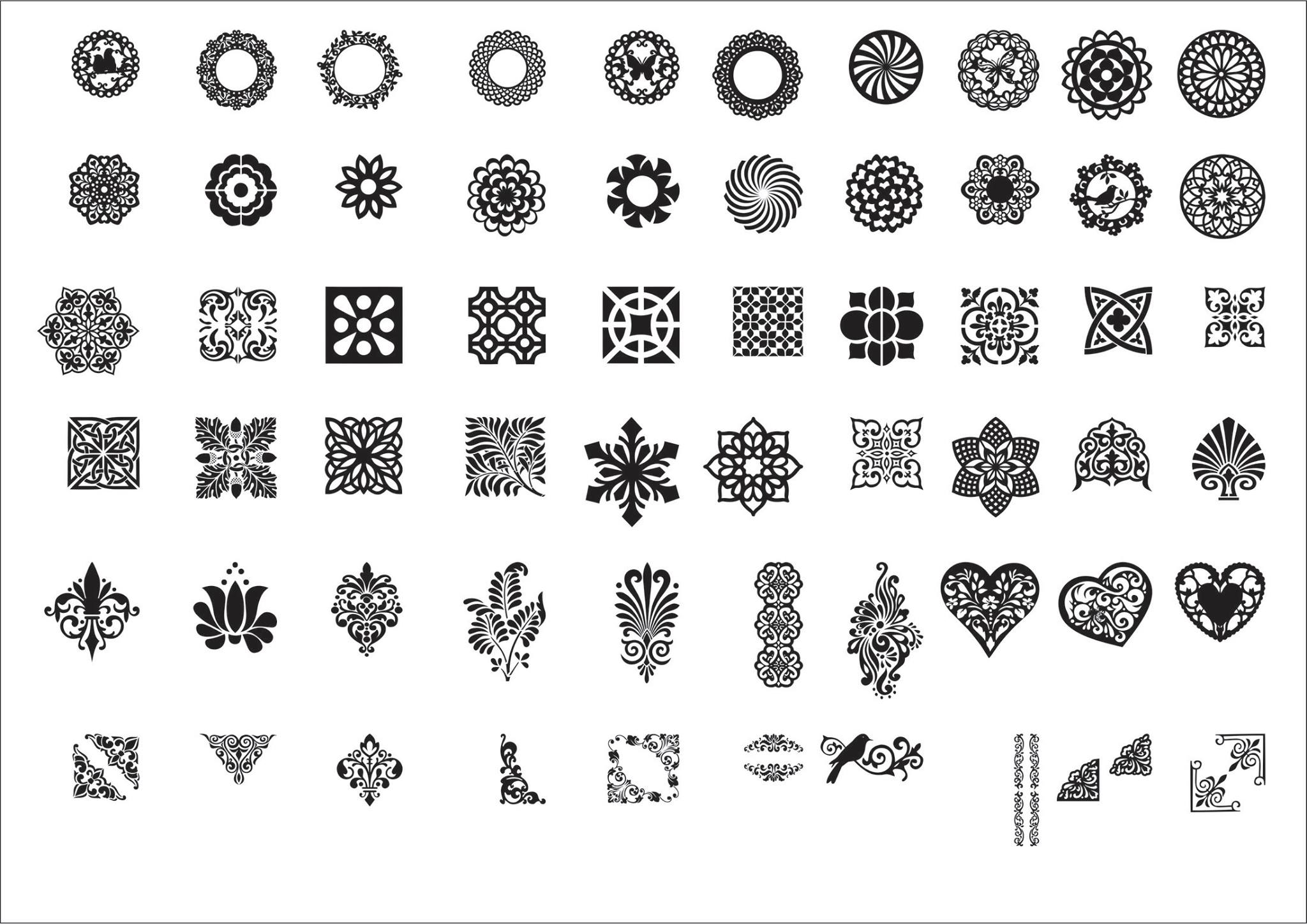 Diverse Patterns Collection DXF File