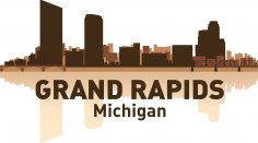Grand Rapids Skyline Free Vector