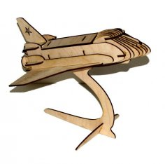 Space Shuttle Laser Cut PDF File