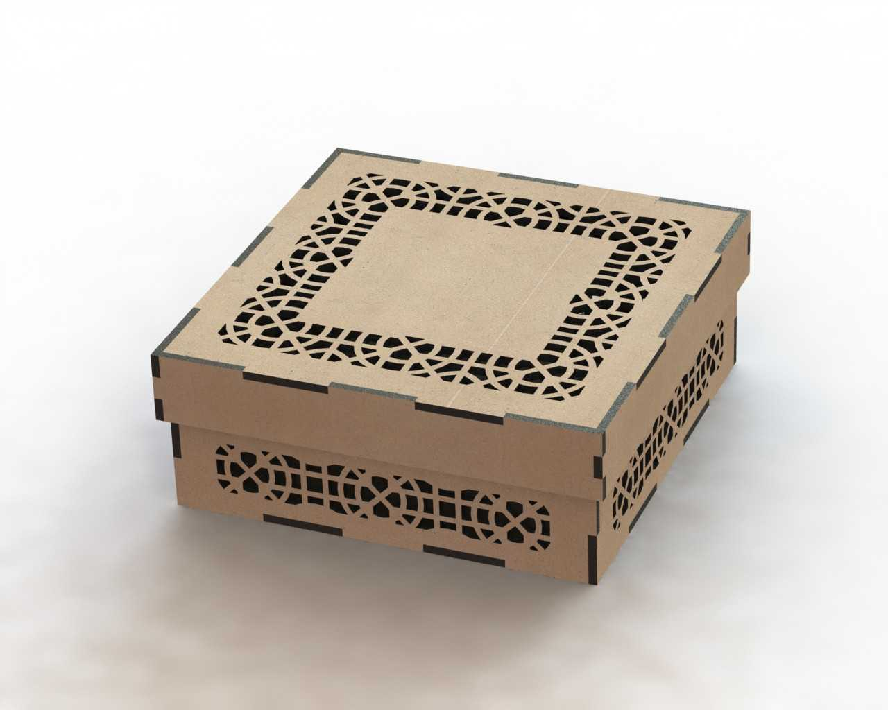 Laser Cut Box Pattern DXF File