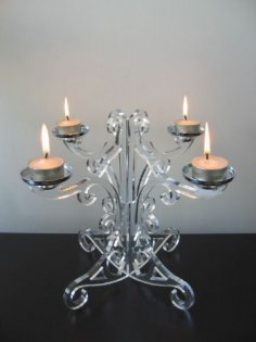 Candle Holder Laser Cut Free Vector